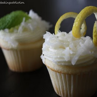Lemon Curd Coconut Cupcakes