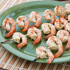 Grilled Pesto Marinated Shrimp