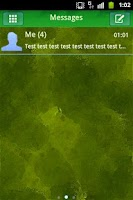 Screenshot of GO SMS Theme Green Nature