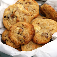 White Chocolate, Cranberry And Pecan Nut Cookies