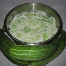 Creamed Cucumber Slices