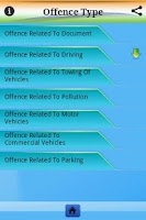 Screenshot of Traffic Offence and Signs