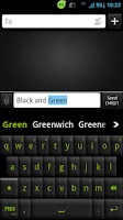Screenshot of GO Keyboard Black Green Theme