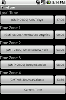 Screenshot of TimeZone
