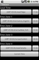 Screenshot of TimeZone