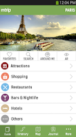 Screenshot of mTrip Travel Guides