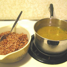 Lentil Soup With Red Yeast Rice