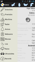 Screenshot of Datos Meteo Galiza