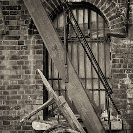 Haulage Of Old by Darrell Evans - Transportation Other ( wood, window, rails, transport, brick, wheels, bars, haulage, cart, transportation, steps )