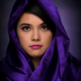 Sweet eyes by Dan Pham - People Portraits of Women ( girl, purple, beauty, portrait, eyes,  )