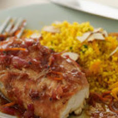 Tangerine Barbecue Chicken and Curry Couscous