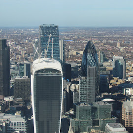 Looking down over London by Nick Pirie - City,  Street & Park  Skylines ( skysraper, walki talkie, height, gherkin, shard, london, axe )