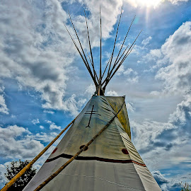 Teepee Heaven by Barbara Brock - Buildings & Architecture Other Exteriors ( american indian teepee, native american home, native american teepee, teepee )