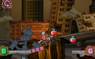 Screenshot of Zombie road – bike game