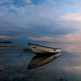 2 side by Satria Wibawa - Landscapes Sunsets & Sunrises ( clouds, colors, boat )