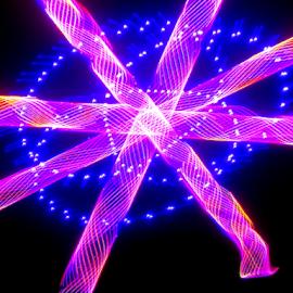 Laser Blueberry pie.  by Jim Barton - Abstract Patterns ( laser light, blueberry, light design, colorful, blueberry pie, laser design, laser, laser light show, light, science )