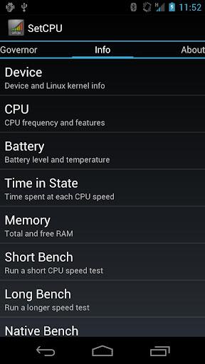 SetCPU for Root Users - screenshot