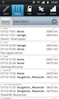 Screenshot of Driver's Log Demo (myLogbook)