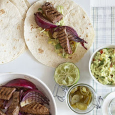 Steak & Onion Fajitas With Sweetcorn Salsa