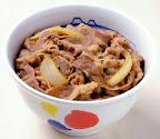松屋の牛丼の画像