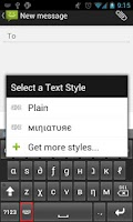 Screenshot of Text Styler Keyboard - Mini