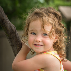 Tree Climbing by David Slack - Babies & Children Children Candids ( climb, girl, tree )