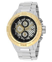 Invicta Men's Pro Diver Chronograph Antique Silver Textured Dial Stianless Steel INVICTA-12370 Watch