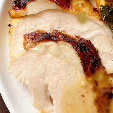 Orange-Tea-Bourbon Brined Turkey With Honey Mustard Butter