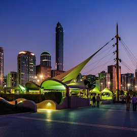 Corniche, Abu Dhabi by Joe Policarpio - City,  Street & Park  City Parks ( lights, buildings, street scenes, nightscapes )