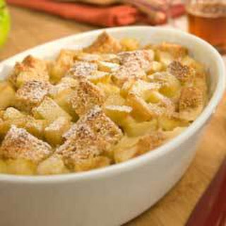 Apple 'n Maple Breakfast Bread Pudding