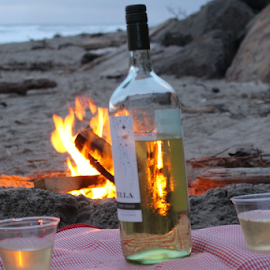 Beach Bonfire by Vonelle Swanson - Food & Drink Alcohol & Drinks