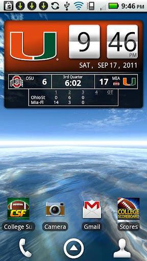 Miami Hurricanes Live Clock
