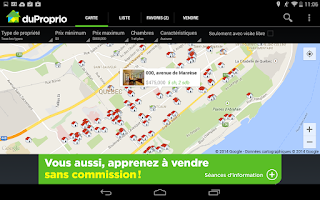 Screenshot of DuProprio Mobile
