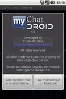 Screenshot of myChatDroid for Facebook Chat