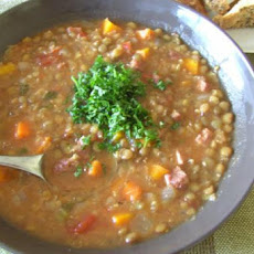 Hearty Lentil & Ham Soup