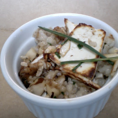 Savory Oatmeal With Ricotta Salata, Brazil Nuts And Thyme