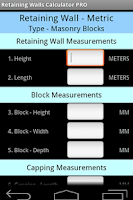 Screenshot of Retaining Walls Calculator PRO