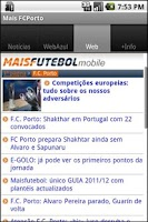 Screenshot of Mais FC Porto