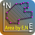 Area by coordinates calculator icon