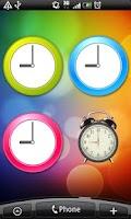 Screenshot of Analog clocks widget – simple
