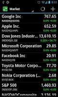 Screenshot of Stocks - Realtime Stock Quotes