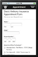 Screenshot of David Anthony Insurance