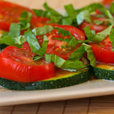 Zucchini Salad Recipe with Tomato and Basil