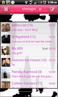 Screenshot of GO SMS - Moo Moo Cow