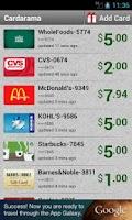 Screenshot of Cardarama - Gift Card Balance