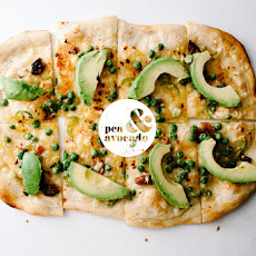 Pea and Avocado Pizza