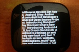 Screenshot of SmartChrome for SmartWatch