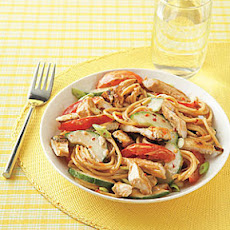 Asian Sesame Noodles with Chicken