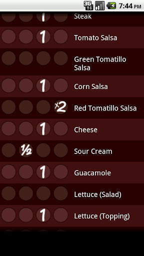 Chipotle Nutrition Calc