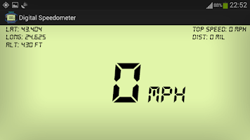 Screenshot of Digital GPS Speedometer & HUD